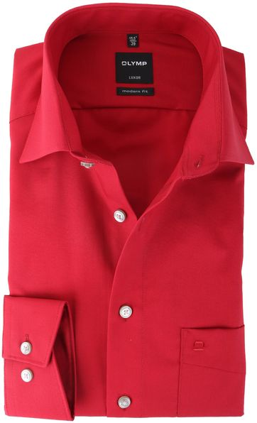 Olymp Luxor Shirt Modern Fit Rood