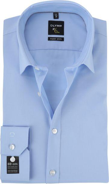 OLYMP No'6 six Hemd Skinny Fit Blau SL7