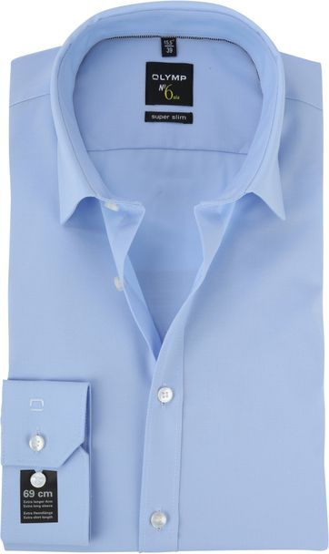 OLYMP No\'6 six Shirt Skinny Fit Blue SL7
