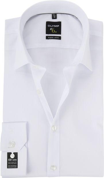 OLYMP No'6 six Shirt Skinny Fit White SL7