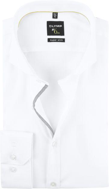 OLYMP No'6 Skinny Fit Overhemd Wit