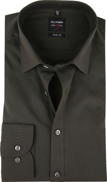 OLYMP Overhemd Donkergroen Body Fit