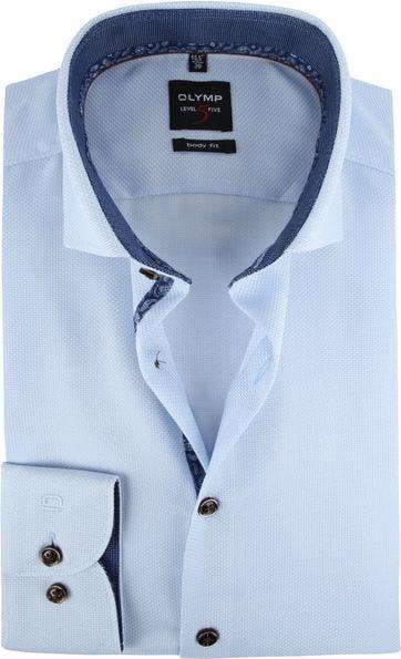 OLYMP Overhemd Lvl 5 Lichtblauw