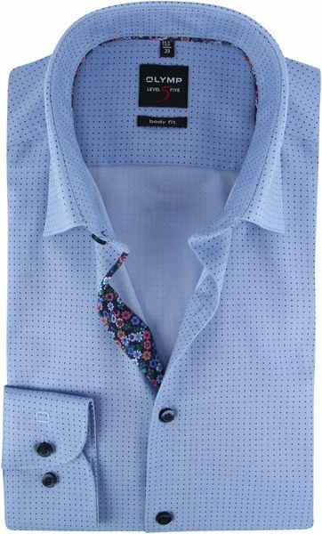 OLYMP Overhemd Lvl 5 Stippen Blauw