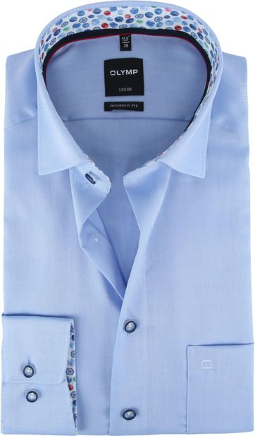 OLYMP Shirt Luxor Light Blue