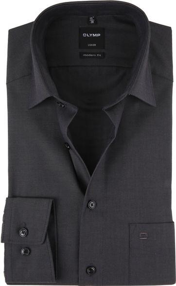 OLYMP Shirt Luxor Modern-Fit Dark Grey