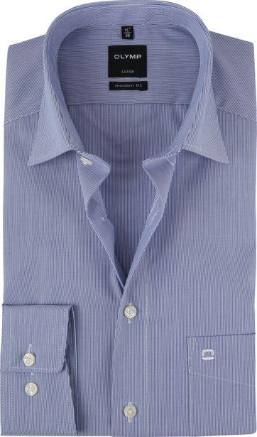 OLYMP Shirt Luxor Modern-Fit Dark Light Blue