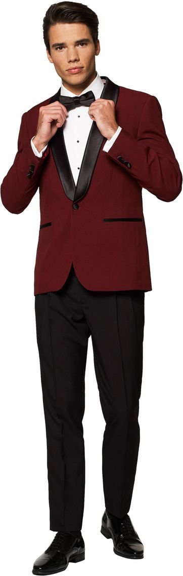 OppoSuits Hot Burgundy Suit