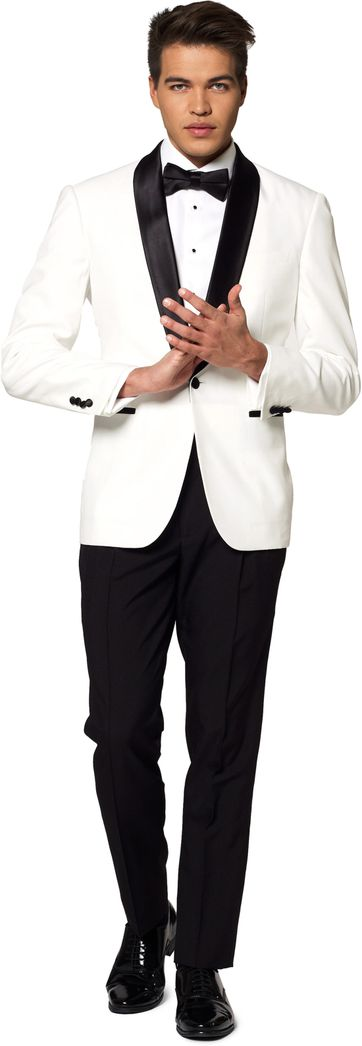 OppoSuits Pearl White Suit