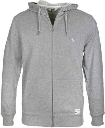 Original Penguin Cardigan Zipper Grau