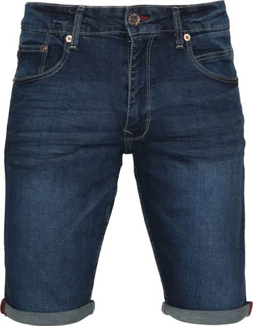 Petrol Bullseye Short Denim Blau