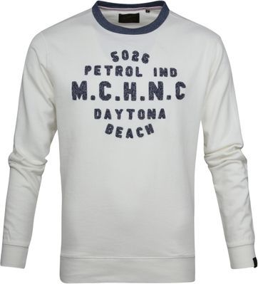 Petrol Sweater Weiß