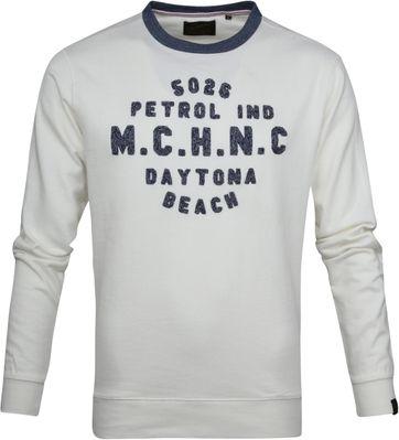 Petrol Sweater White
