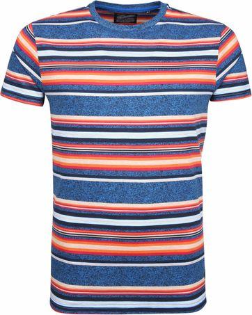 Petrol T-shirt Bunt Streifen
