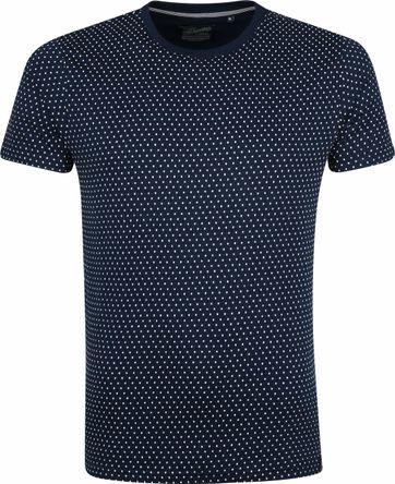 Petrol T-shirt Punkte Dunkelblau