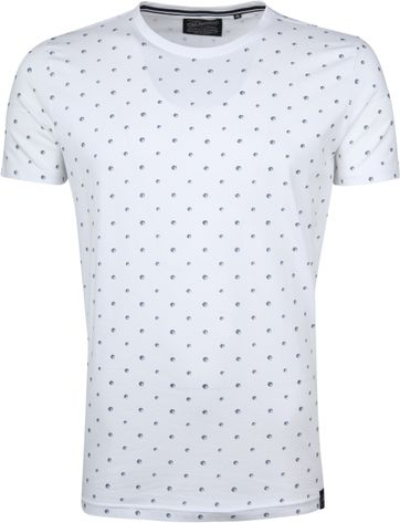 Petrol T-shirt White Dots
