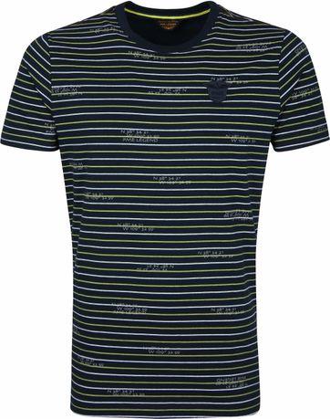 PME Legend T-Shirt Streifen Dunkelblau