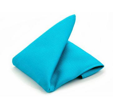 Pochet Zijde Turquoise F24