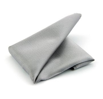 Pocket Square Silk Silver F48