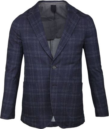Profuomo Blazer Checked Navy
