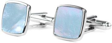 Profuomo Cufflinks Silver Blue square