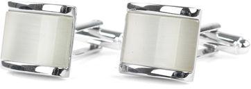 Profuomo Cufflinks Silver White