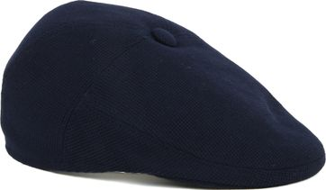 Profuomo Flat Cap Geweven Navy
