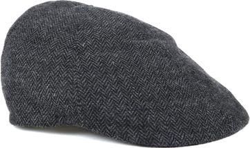Profuomo Flat Cap Herringbone Dark Grey