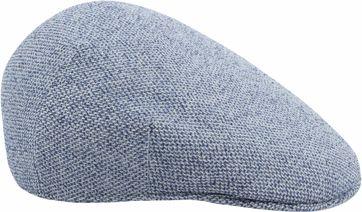 Profuomo Flat Cap Melange Lichtblauw