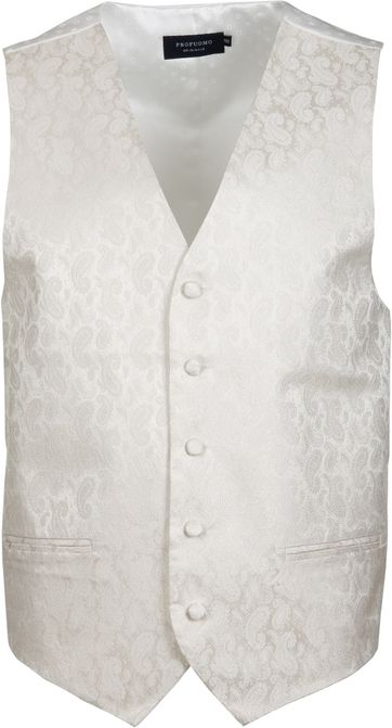 Profuomo Gilet Silk Off-White