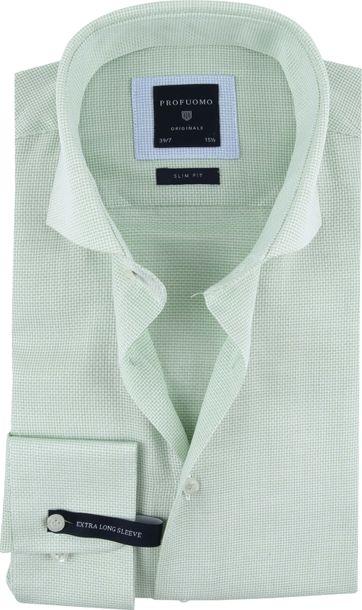 Profuomo Hemd Sleeve 7 Grün