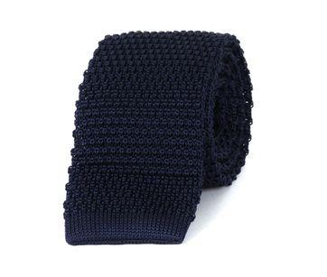Profuomo Krawatte Gestrickt Wolle Navy