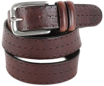 Profuomo Leather Belt Berlin Brown