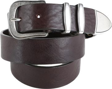 Profuomo Leather Belt Paris Brown