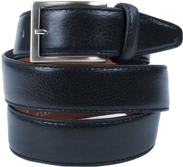 Profuomo Leather Dark Blue Belt