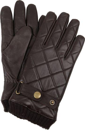 Profuomo Leder-Handschuh Nappa Braun