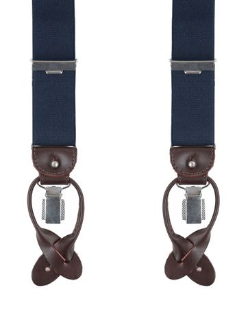 Profuomo Luxury Suspenders Dark Blue