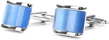 Profuomo Manschettenknöpfe silber blau
