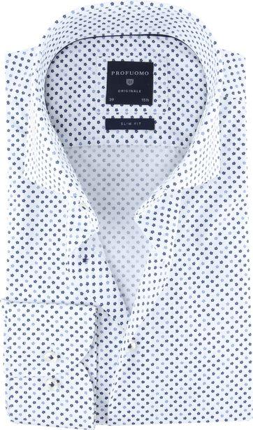 Profuomo Originale Hemd Weiß Print