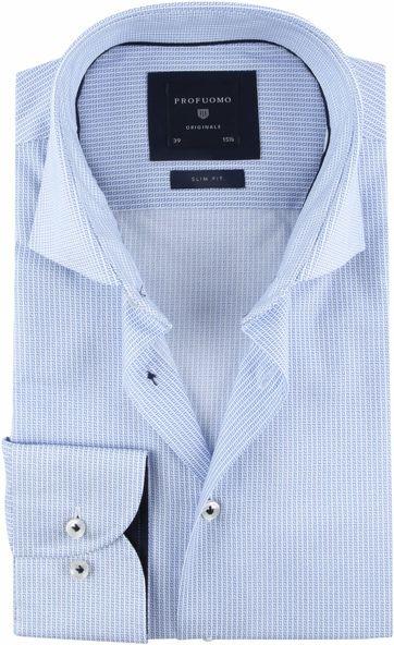 Profuomo Overhemd Dessin SF Blau