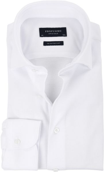Profuomo Overhemd Knitted White WS