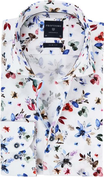 Profuomo Overhemd Leggiuno Flowers