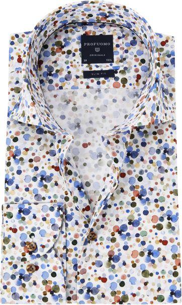Profuomo Overhemd Polka Dot Print