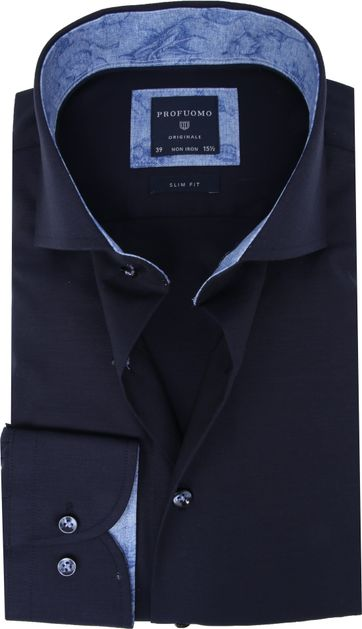 Profuomo Overhemd SF Donkerblauw