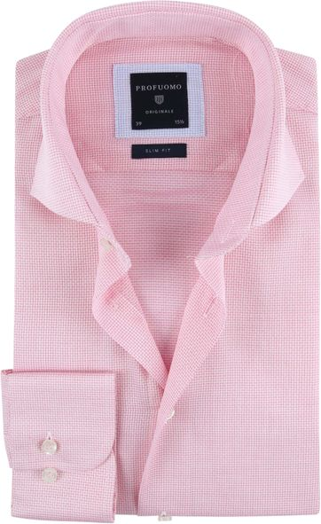 Profuomo Overhemd SF Ice Cotton Roze