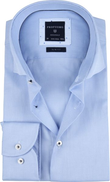 Profuomo Overhemd SF Oxford Blauw