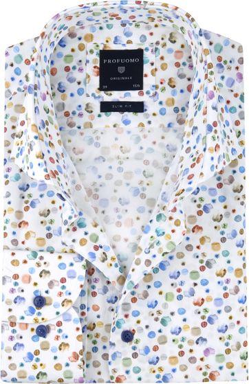 Profuomo Overhemd SF Waterverf Stippen