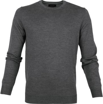 Profuomo Pullover O-Neck Dark Grey