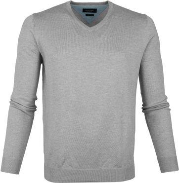 Profuomo Pullover V-Neck Grey