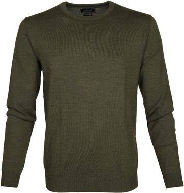 Profuomo Pullover Wol Groen